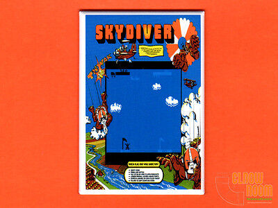 "Skydiver marquee//bezel 2x3/"" fridge//locker magnet arcade Atari"