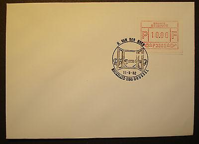 Atm Label Frama Mn 1 10.00 Bfr Auf Brief Mit St Goes /bruxelles Kaufen Sie Immer Gut Freundschaftlich Belgie 1982