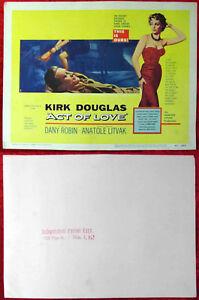 6-Lobby-Cards-Aushangfotos-034-Act-of-Love-034-Original-US-1954-Kirk-Douglas