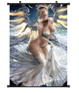 Hot-Game-Anime-Overwatch-Mercy-Art-Home-decor-Poster-Wall-Scroll-8-034-x12-034-F316