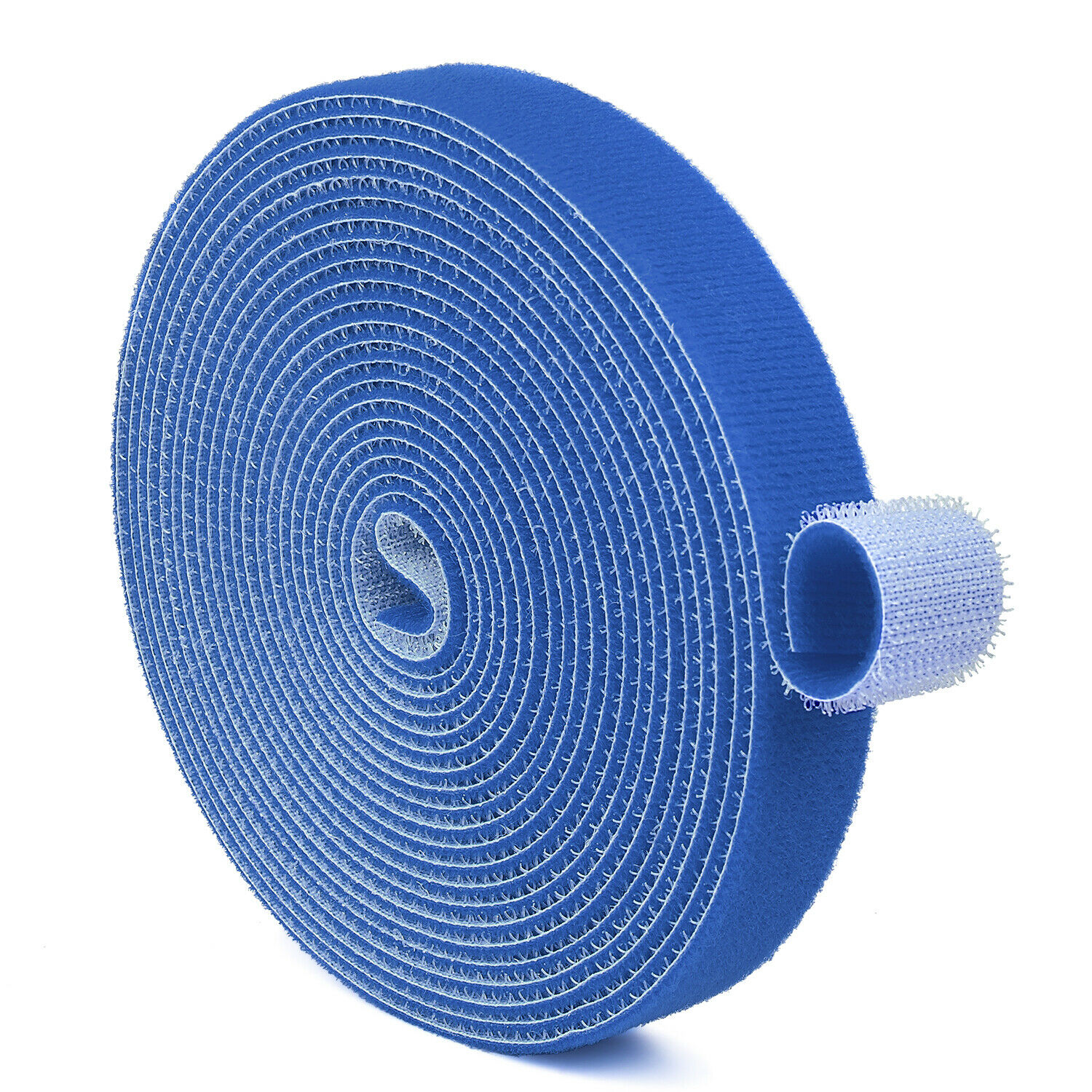 Hook And Loop Tape Strap Cable Ties Fastener Blue 15FT Self Adhesive Roll Wrap