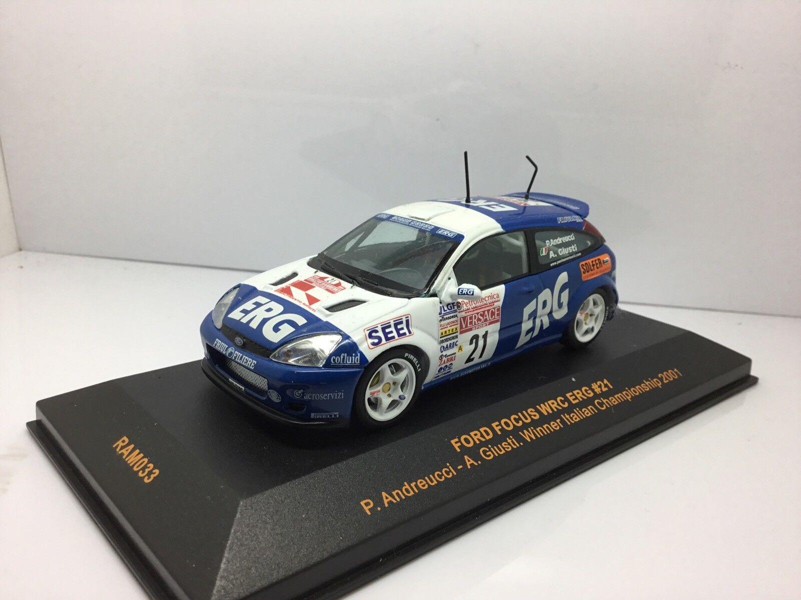 IXO FORD FOCUS WRC ERG WINNER ITALIAN CHAMPIONSHIP 2001 RAM033 1 43