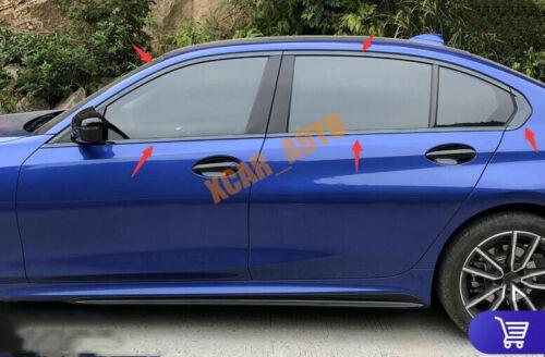 Black Car Window Strip Cover Trim 10pcs FIT BMW 3 Series G20 G28 2019 2020