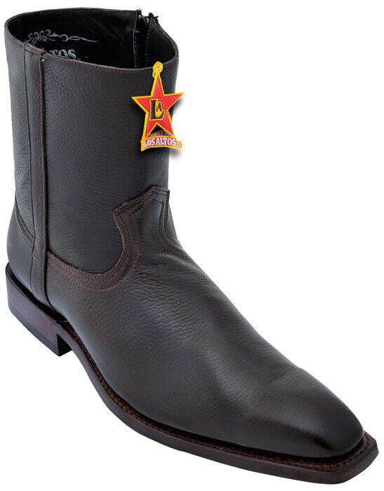 Los Altos stivali 168B5107 Marroneee Cafe Genuine Leather Ankle stivali Dimensione 9 EE
