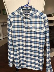 12dd77256 Details about The North Face Thermocore Plaid Flannel Shirt - Men's Small