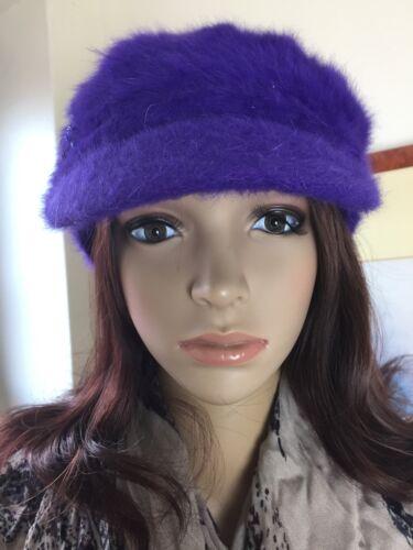 New Christmas Winter Purple Angora Wool Peak Cap Beanie Hat Lili /& Poppy