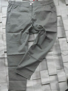 Sheego-Trousers-Cloth-Pants-Grey-Tone-Size-52-plus-Size-with-Elastic-192
