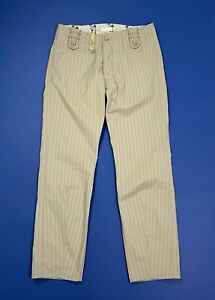 Diesel-pantalone-uomo-usato-pynamato-W29-tg-43-chino-slim-boyfriend-beige-T244