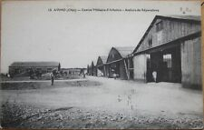 1918 French Aviation/Airplane Postcard: 'Ateliers - Avord, Centre Militaire'