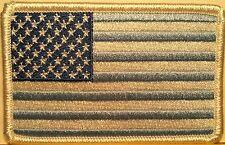 USA Pastel Blue Flag BIKER Iron-On Patch  American United States White Border