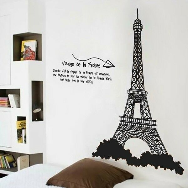 New Paris Tower Home Decor Wall Sticker Removable Decal Room Wall Sticker Decor