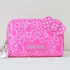 Sanrio Hello Kitty Ribbon Card Holder Case Coin Wallet Purse Cute Zipped