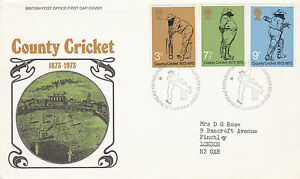 16 MAY 1973 COUNTY CRICKET POST OFFICE FIRST DAY COVER BUREAU SHS - Weston Super Mare, Somerset, United Kingdom - 16 MAY 1973 COUNTY CRICKET POST OFFICE FIRST DAY COVER BUREAU SHS - Weston Super Mare, Somerset, United Kingdom