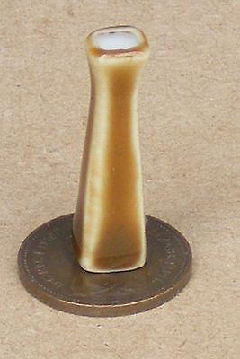 Apprensivo 1:12 Scala Marrone 2.5cm Alta Ceramica Vaso Tumdee Casa Bambole Ornamento Fiore Ricco E Magnifico