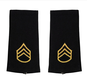 LARGE SIZE ARMY EPAULET: STAFF SERGEANT Genuine U.S MALE