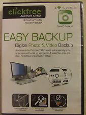 EASY BACKUP - DIGITAL PHOTO & VIDEO BACKUP by Clickfree Automatic Backup