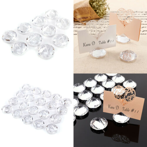 10//20 Stk Diamant Form Tischkarten Halter Platzkartenhalter Hochzeit Tischdeko