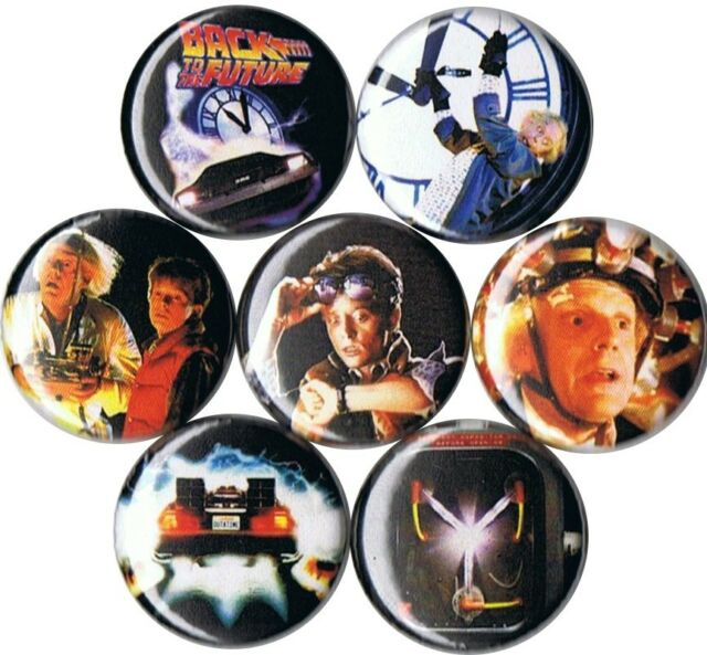Back to the Future 7 pins buttons badges doc brown marty mcfly flux capacitor