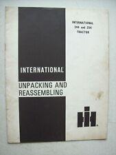 Original International 244 254 Tractor Unpacking Amp Reassembling Manual