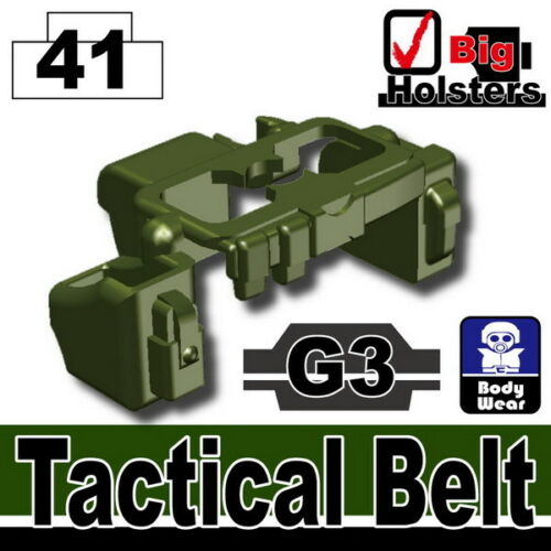 Tank Green G4 Tactical Belt Army Police SWAT for LEGO brick military minifigures