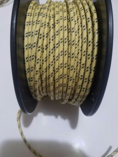 10 feet Vintage Braided Cloth Covered Primary Wire 12 GA gauge Yellow w// 2 Black