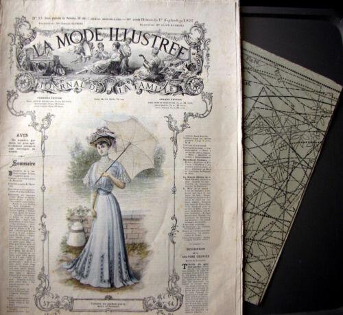 PATRON LA MODE ILLUSTREE FRENCH PATTERN n° 35//1907 Voir modèles à réaliser