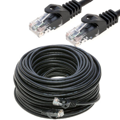 2 X White 100 FT Foot 30M Cat5 Patch Ethernet LAN Network Router Wire Cable Cord