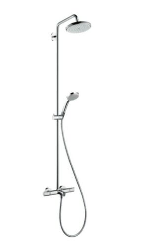 BNIB Hansgrohe Croma 220 Shower System With Ecostat Thermostatic Bath Mixer
