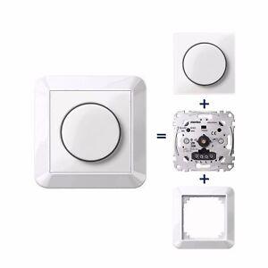 merten led drehdimmer meg5134 0000 komplettset set inkl rahmen und dimmscheibe ebay. Black Bedroom Furniture Sets. Home Design Ideas