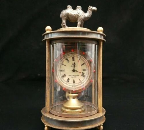 European Exquisite Brass /&Glass The camel Classical Mechanical Clock OSB18-g