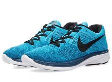 Nike Flyknit Lunar3 - UK 8.5 (EUR 43) - New ~ Blue Lagoon 698181 401