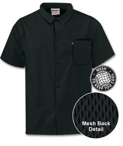 New Uncommon Threads Unisex Restaurant Utility Shirt With Snap Closure Black ..
