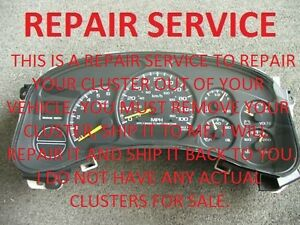 Image Is Loading 1999 2002 Chevy Chevrolet Silverado Instrument Cer Odometer