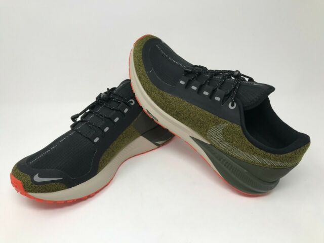 save off 87c35 10d19 Men's Nike Air Zoom Structure 22 SHIELD (olive flak/metallic silver)  AA1645-300