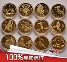 Constellation Gold Plated Coin Sets 12星座镀金纪念币