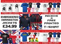 Harrington Jackets Embroidered Mods Ska Skinheads With Free T-shirt Sizes S-xxxl