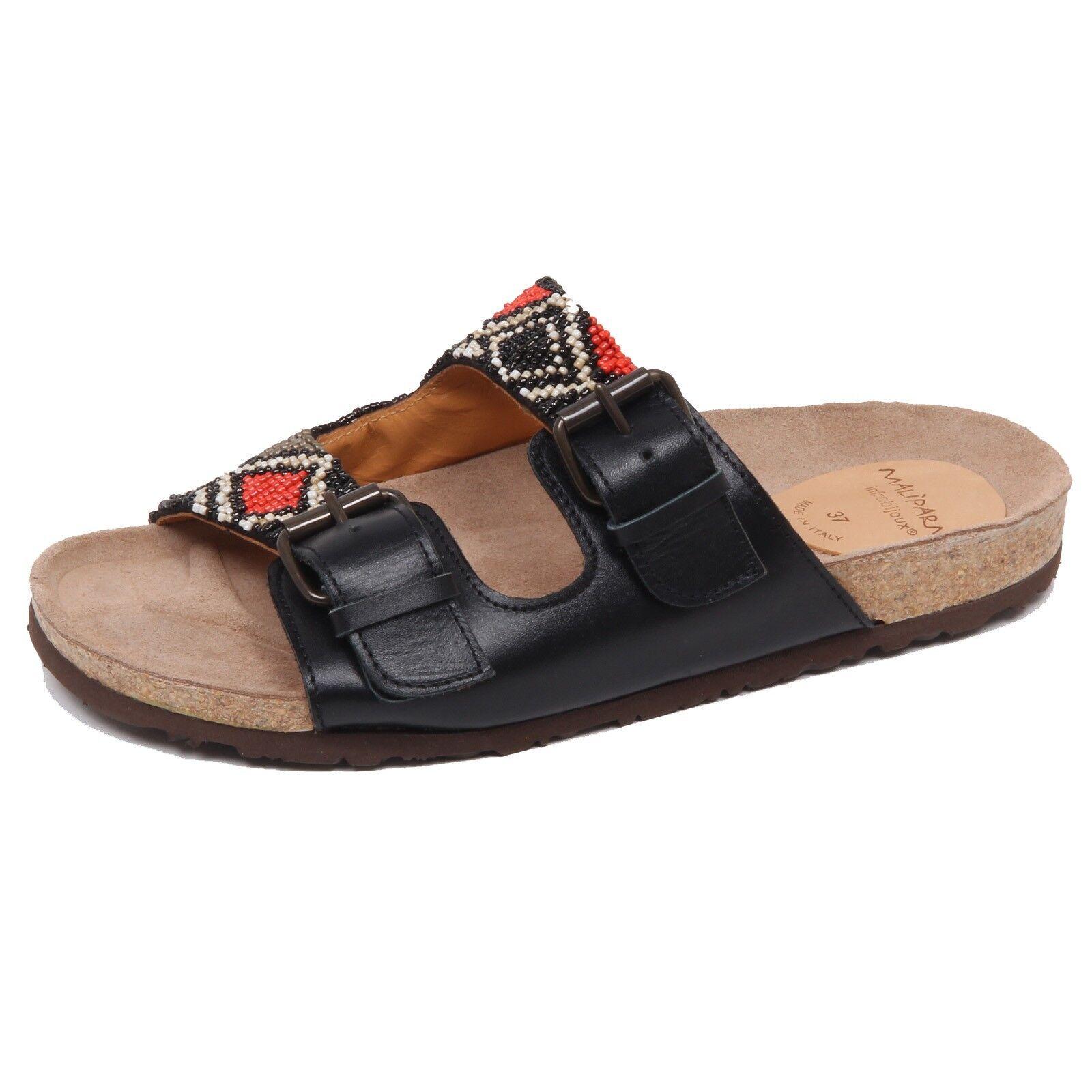 F1870 Sandalo mujer Zapato De Cuero Negro Negro Negro Maliparmi zapatos eco mujer  Precio al por mayor y calidad confiable.