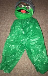 Details About Vintage Ben Cooper Oscar The Grouch Costume Sesame Street