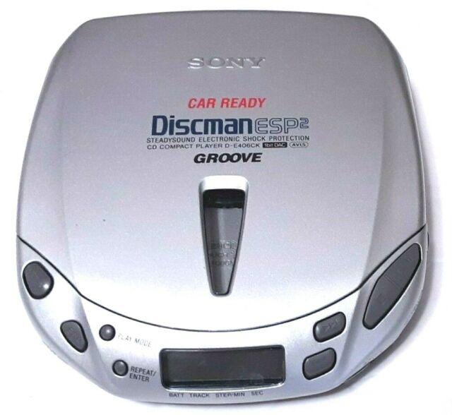 Sony Car Ready Discman D-E406CK ESP2 Portable CD Player Walkman