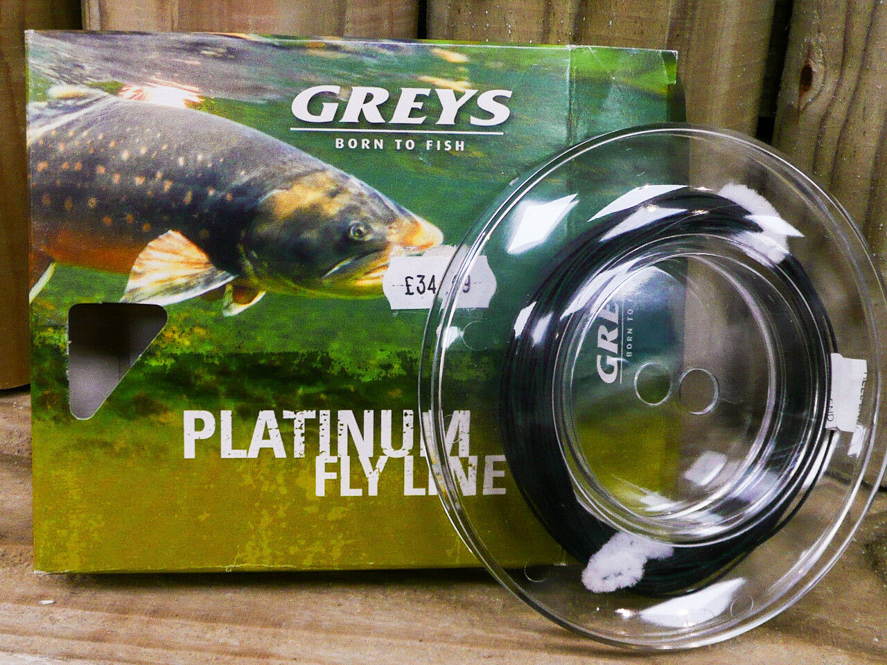 GREYS BORN TO  FISH PLATINUM FLY LINE HERON GREY, HI VI FLOATING FLY FISHING,NEW  best service