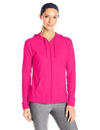 Hanes Womens Activewear Jersey Full Zip Hoodie L Select SZ//Color.