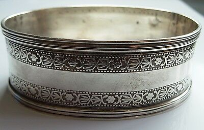 Large Sterling Silver Stamped Oval Napkin Ring Ebay