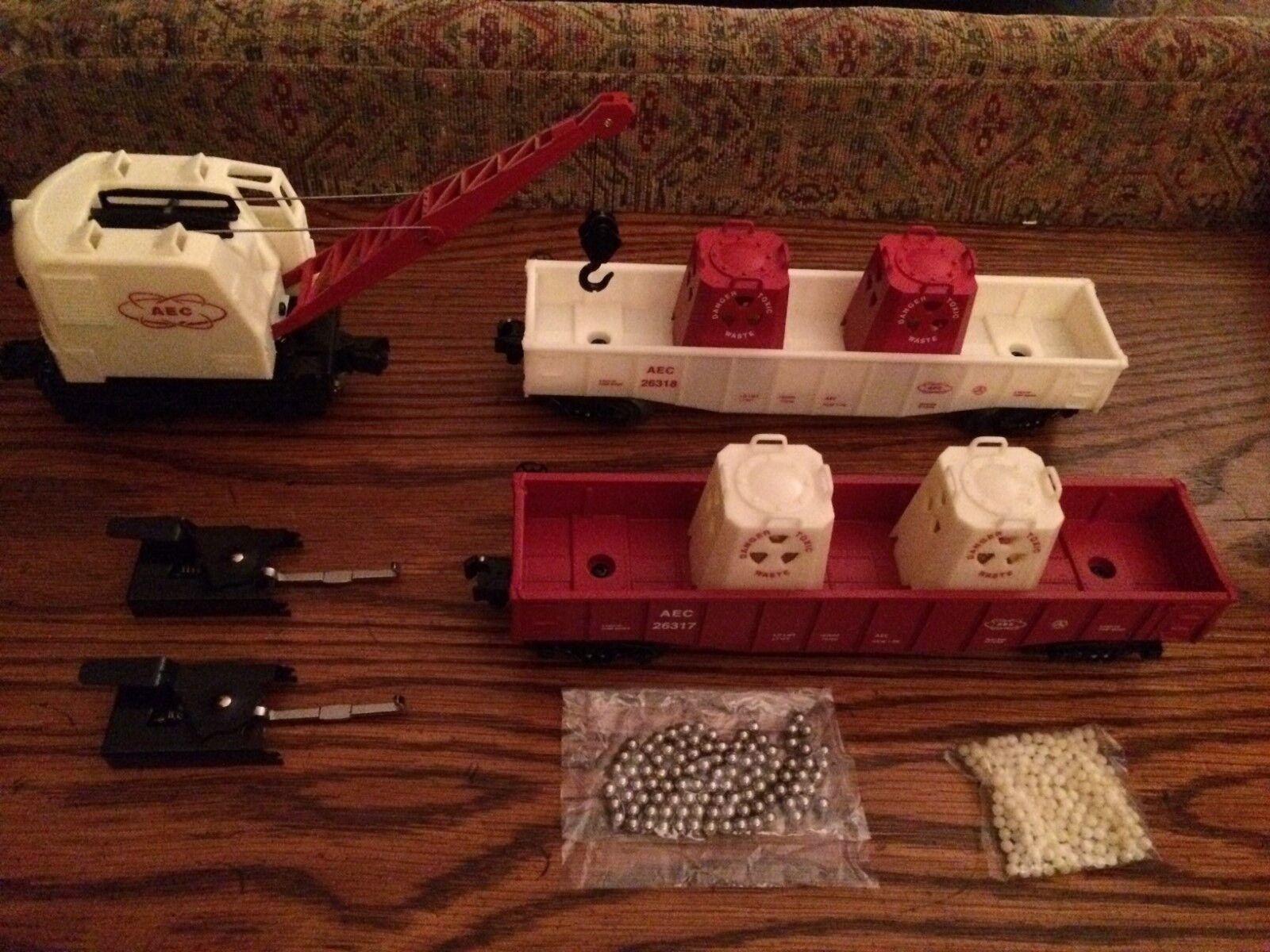 Lionel 31774 AEC Burro Crane Set Nuovo in Box with Master Carton
