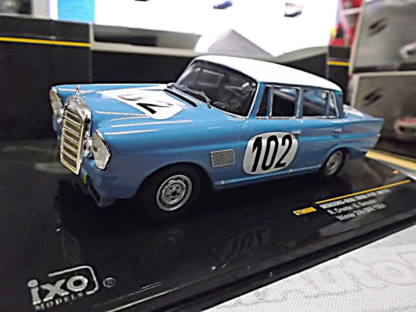 MERCEDES Benz 300se w111 aileron arrière racing 24h spa 1964 winner  102 IXO 1 43