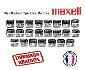 Pile montre Marque Maxell Oxyde d'Argent 1.55V batterie bouton VENDEUR PRO