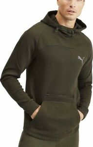 Puma-evoStripe-Mens-Training-Hoody-Green-Stylish-Slim-Fit-Gym-Workout-Hoodie
