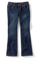 Lands End Girl's 5-pocket Denim Boot Cut Jean Antique Dark Wash Size 7