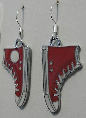 Pumped up kicks! earrings sneakers all stars rockabilly emo chuck taylor