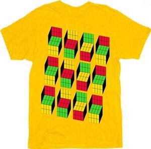 Yellow Opti Blocks T-Shirt, Sizes: S - 3XL
