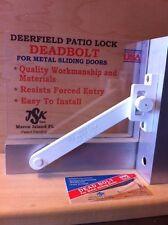 Deerfield Patio Door Lock  (White)